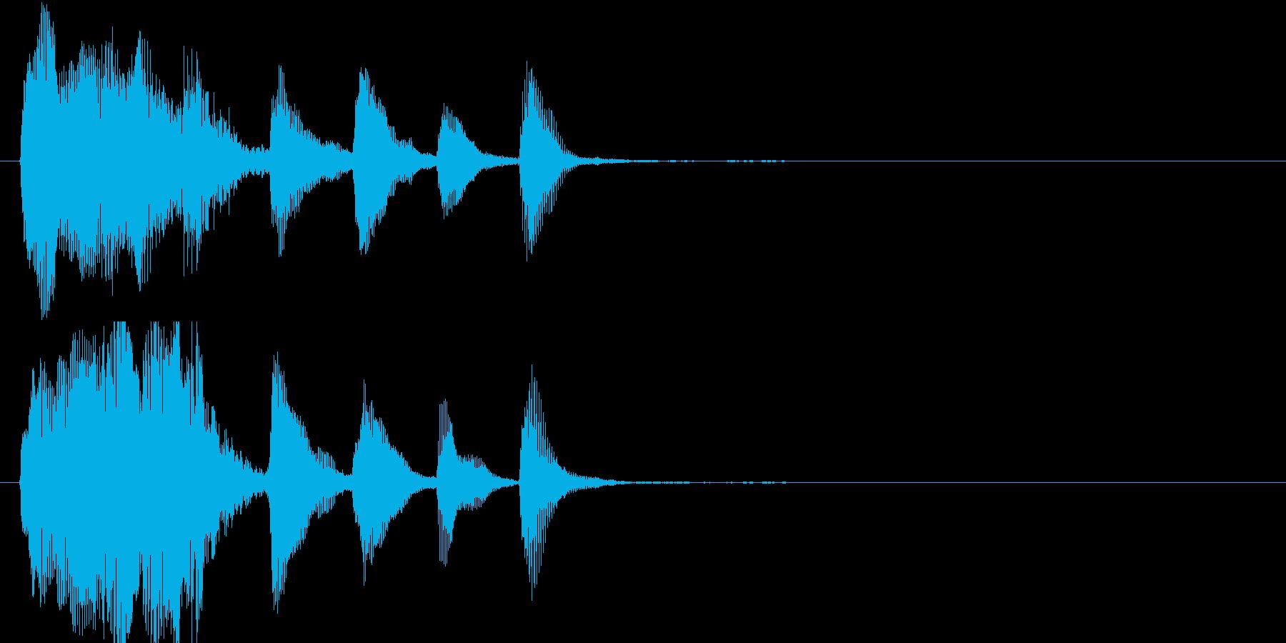 ファゴットの怪しい残念風ジングルの再生済みの波形