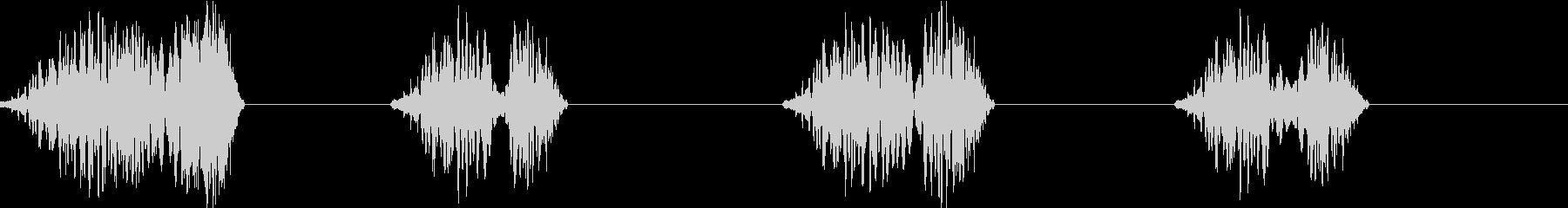 DJプレイ スクラッチ・ノイズ 173の未再生の波形