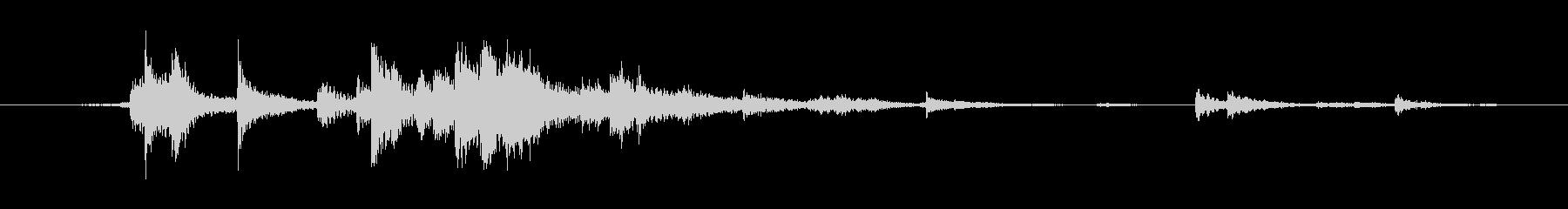 木製タイルLrg正方形の未再生の波形