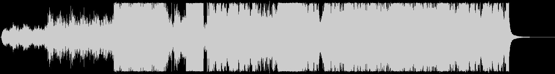 オーケストラを用いたダブステップの未再生の波形