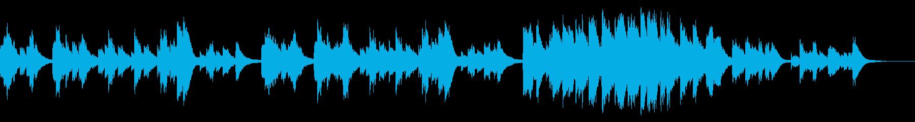 ピアノメインの哀しげで幻想的な曲の再生済みの波形