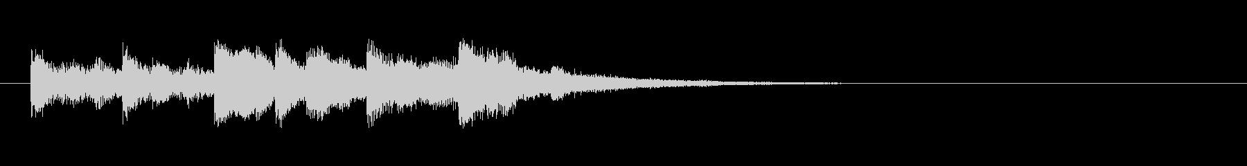 【ベース抜き】スタイリッシュな映像ロゴの未再生の波形