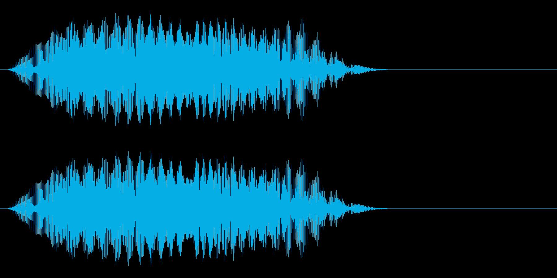 ヒュイ~_コミカルな投げる音の再生済みの波形