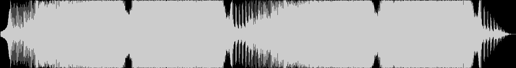 ゴシック調なシューティング向けBGMの未再生の波形
