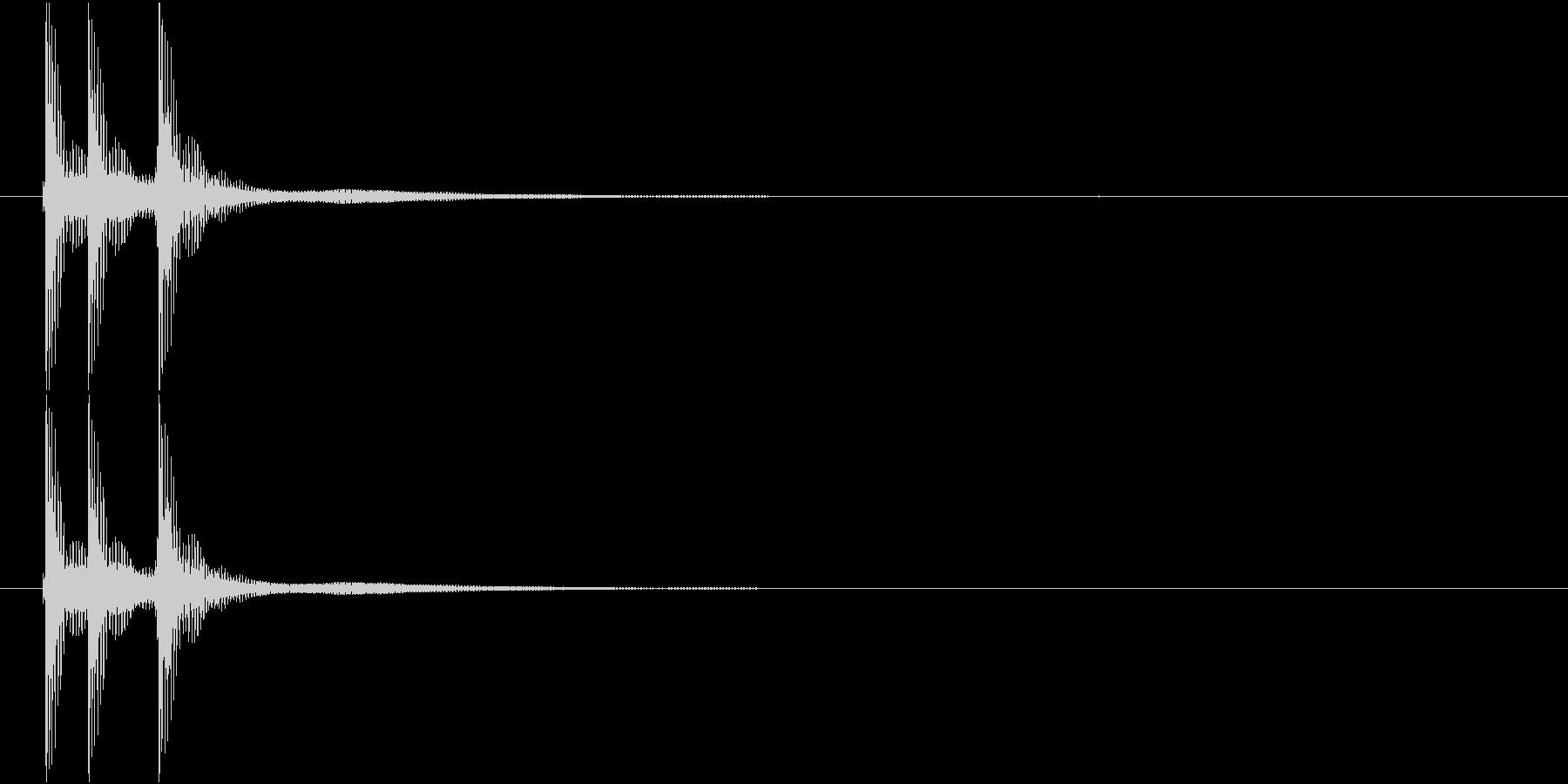 津軽三味線の生音三連打(A音)の未再生の波形