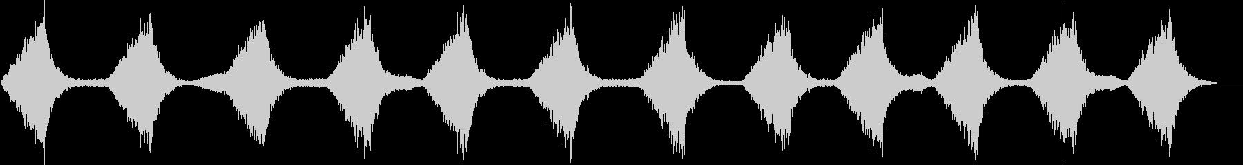 ザバーン...。波・海の音(穏やか・長)の未再生の波形