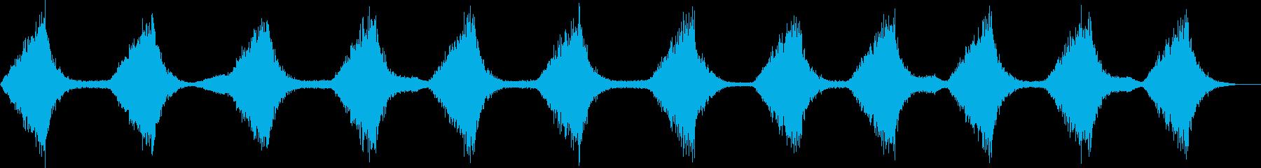 ザバーン...。波・海の音(穏やか・長)の再生済みの波形