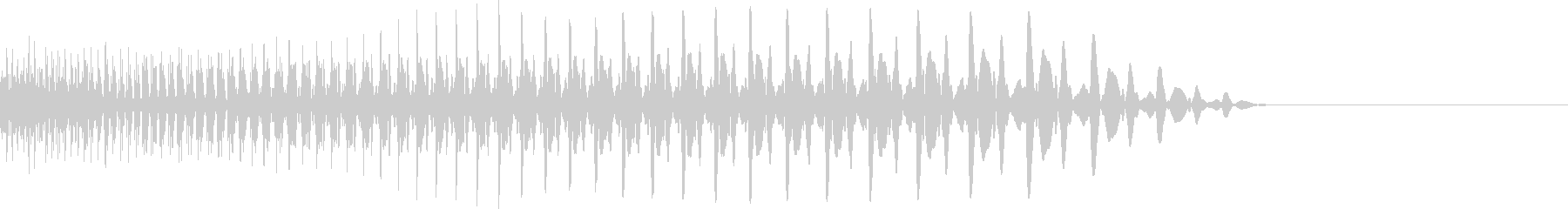 下降系の太いシンセ音の未再生の波形