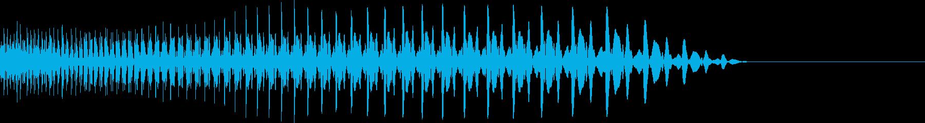 下降系の太いシンセ音の再生済みの波形
