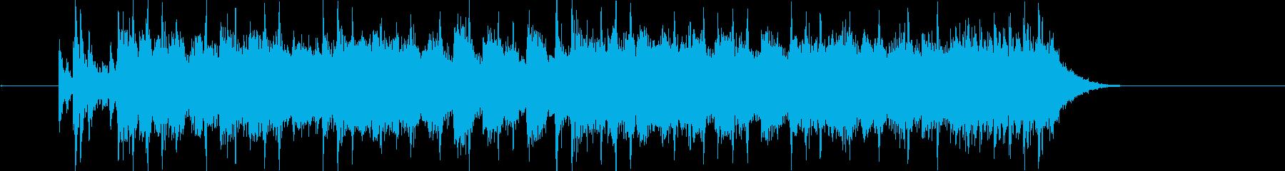 シューティングゲームな曲の再生済みの波形