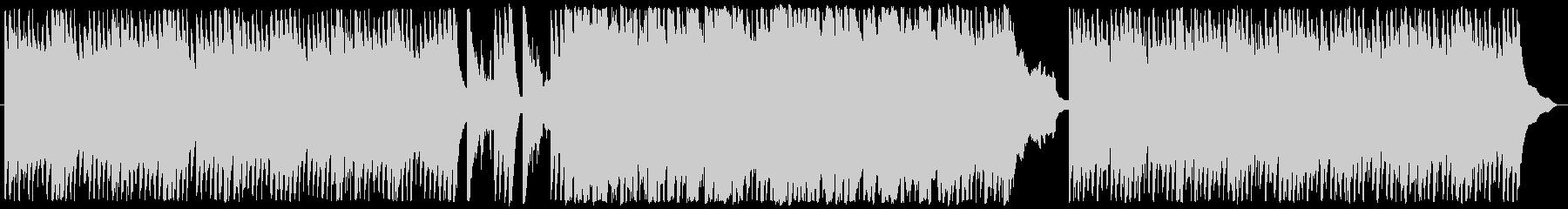 絶えず流れる水面のピアノ曲の未再生の波形