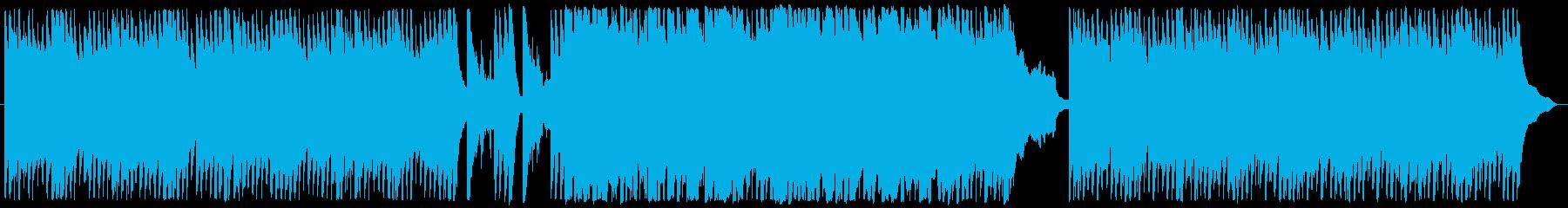 絶えず流れる水面のピアノ曲の再生済みの波形
