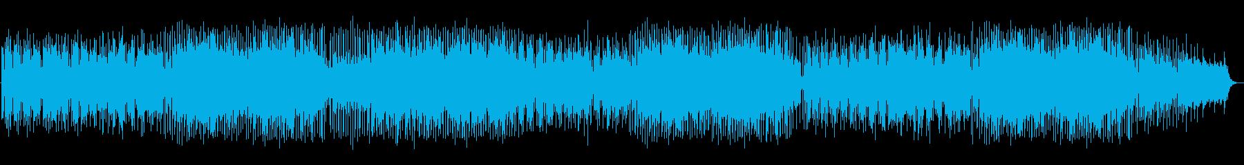 ラテンテイストのフュージョン曲の再生済みの波形
