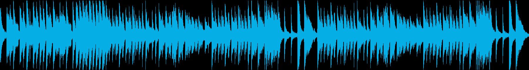 10秒でサビ、コミカル/静かめループの再生済みの波形