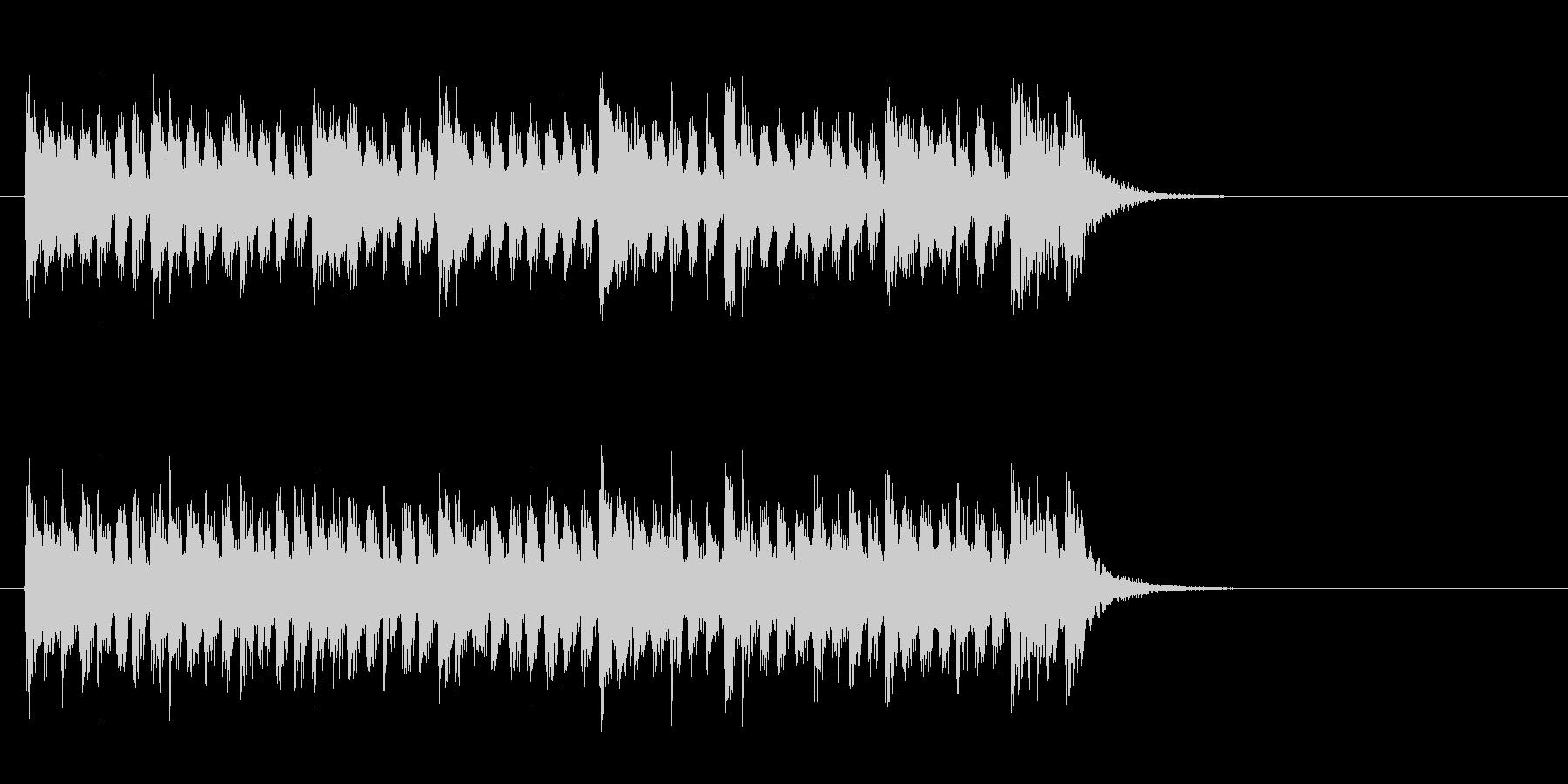 爽やかなミディアムポップ(イントロ)の未再生の波形