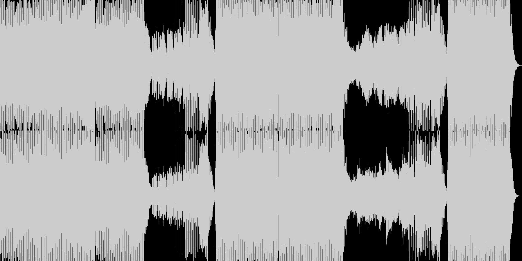 エネルギッシュでファンキーなEDMの未再生の波形