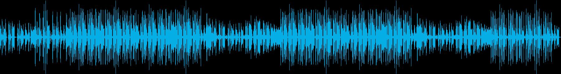 ギター・お洒落・カフェ・楽しい・ループの再生済みの波形