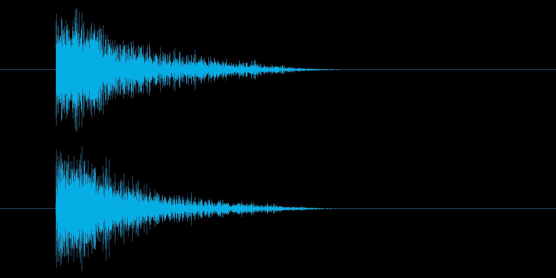 ジャン!豪華なオケヒその1_音程高めの再生済みの波形
