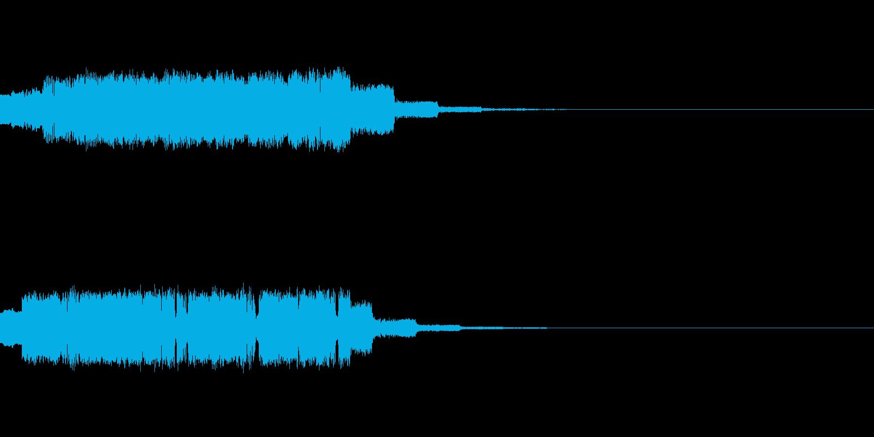 SF・宇宙チックな効果音の再生済みの波形