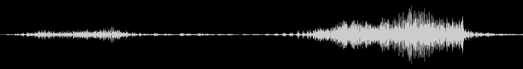 チャックを閉める音1の未再生の波形