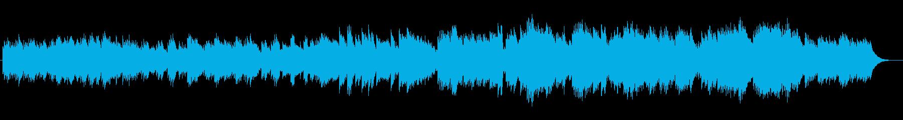 ヒーリング効果があるミュージックの再生済みの波形