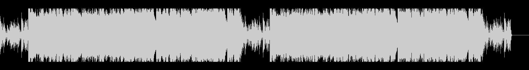 ダークでインダストリアルなBGMの未再生の波形