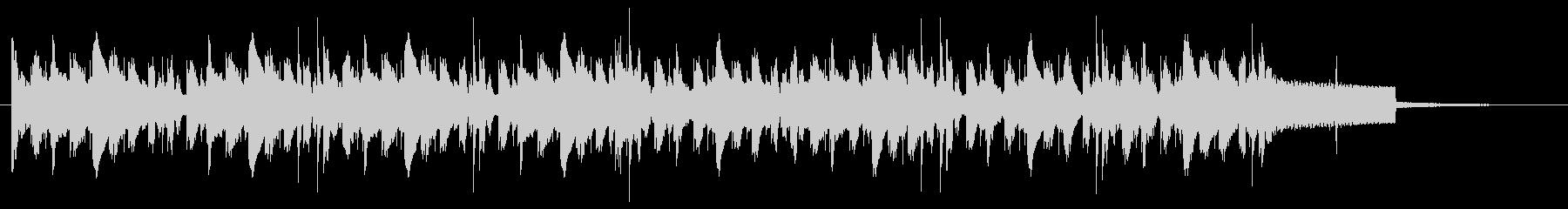 ジャズ風アレンジのオルガンBGMの未再生の波形