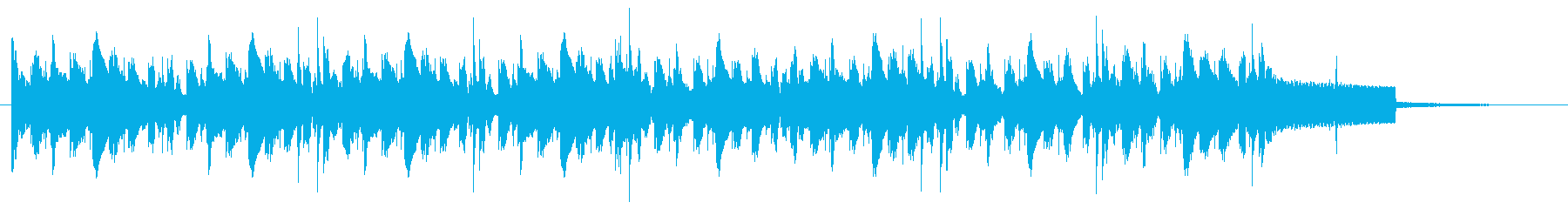 ジャズ風アレンジのオルガンBGMの再生済みの波形