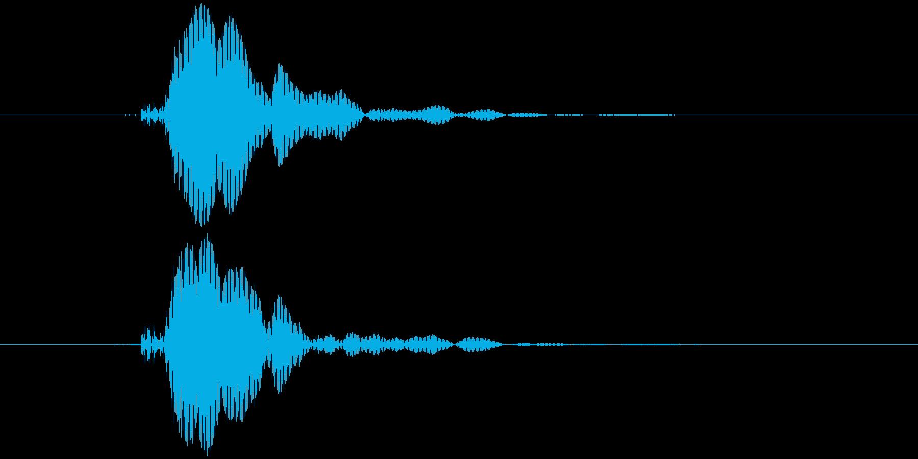 ピコピコハンマー ピッ (高め)の再生済みの波形