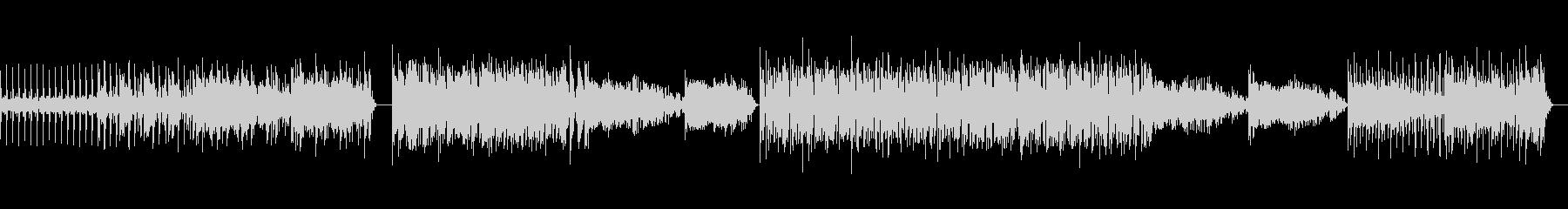 不思議な重低音変速ビートのテクノ の曲の未再生の波形