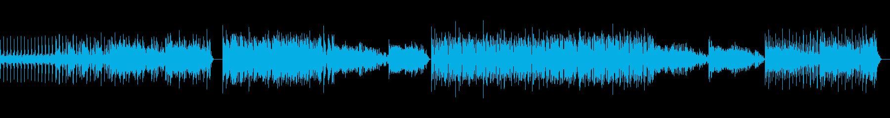 不思議な重低音変速ビートのテクノ の曲の再生済みの波形