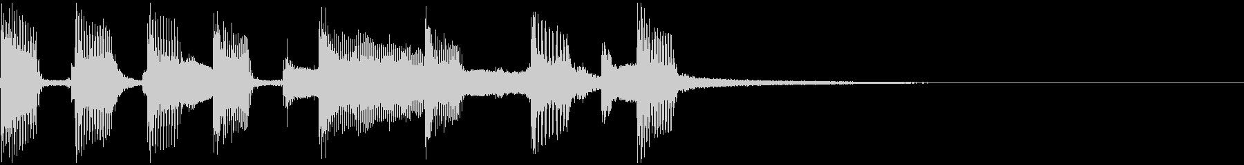 シンセオルガンのバンドサウンドジングルの未再生の波形