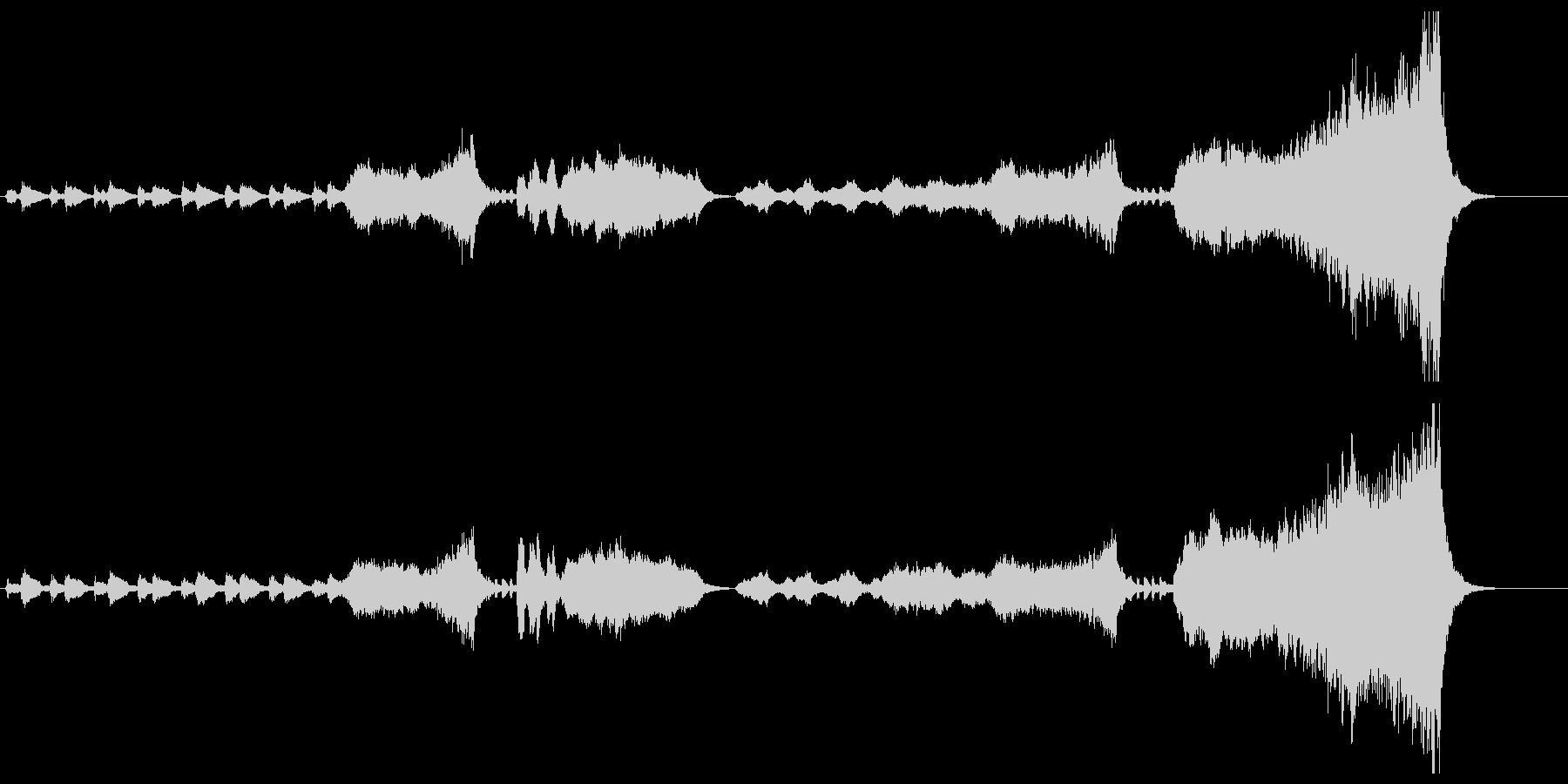 オーケストラのハッピーバースデー オケの未再生の波形