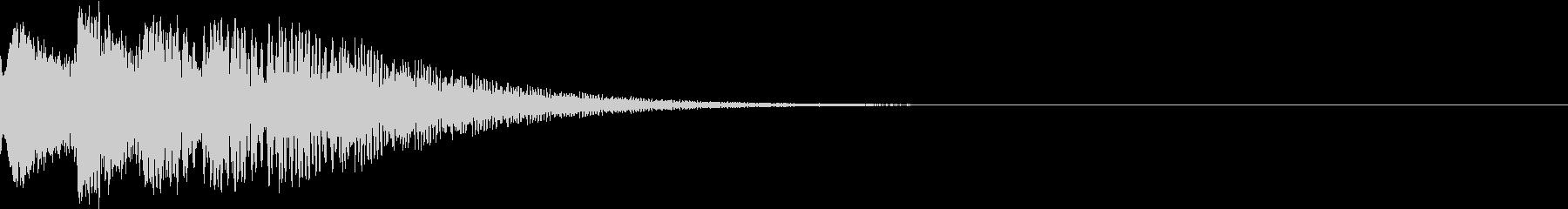 光 キュイン 目立つ カットイン 09の未再生の波形