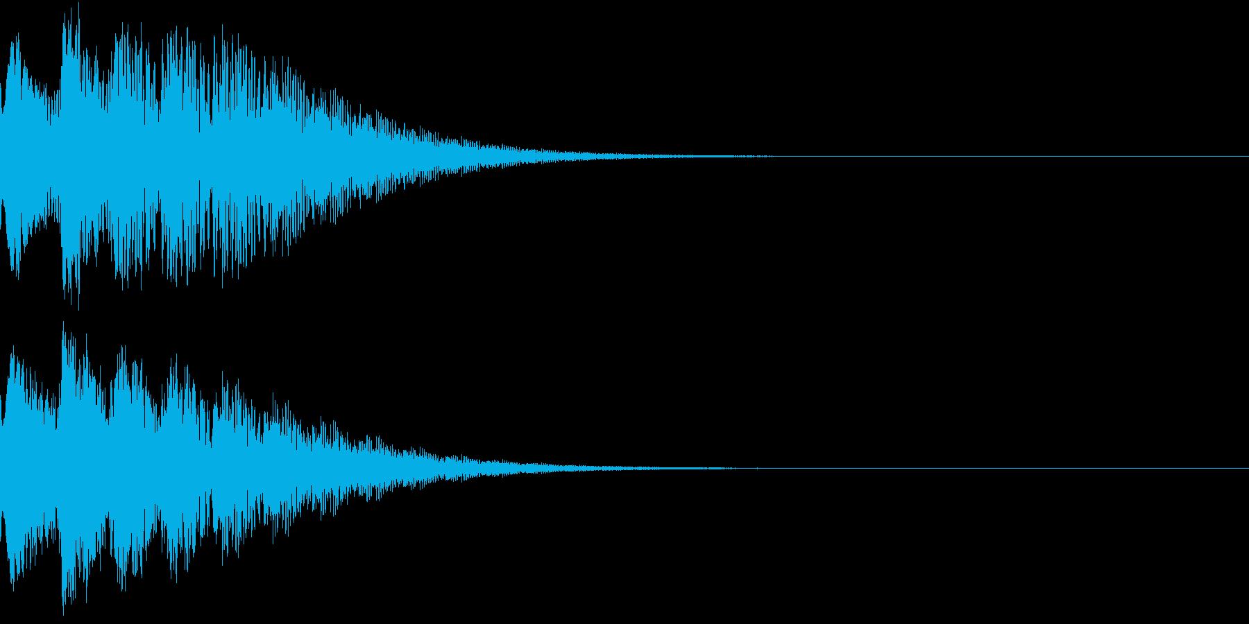 光 キュイン 目立つ カットイン 09の再生済みの波形