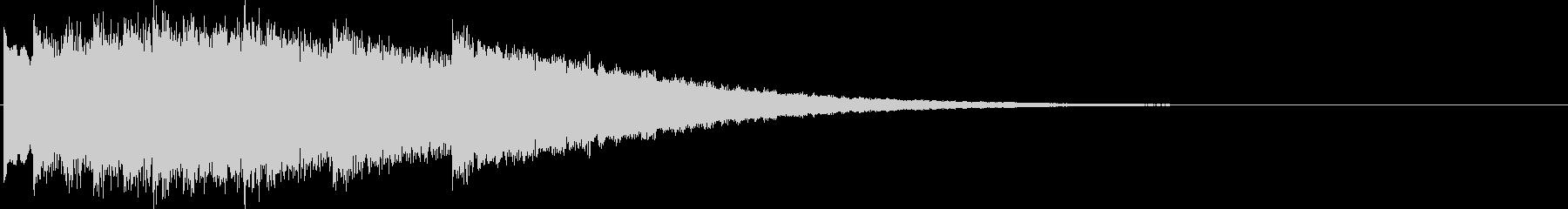キンコン..。のど自慢風の鐘(合格)の未再生の波形