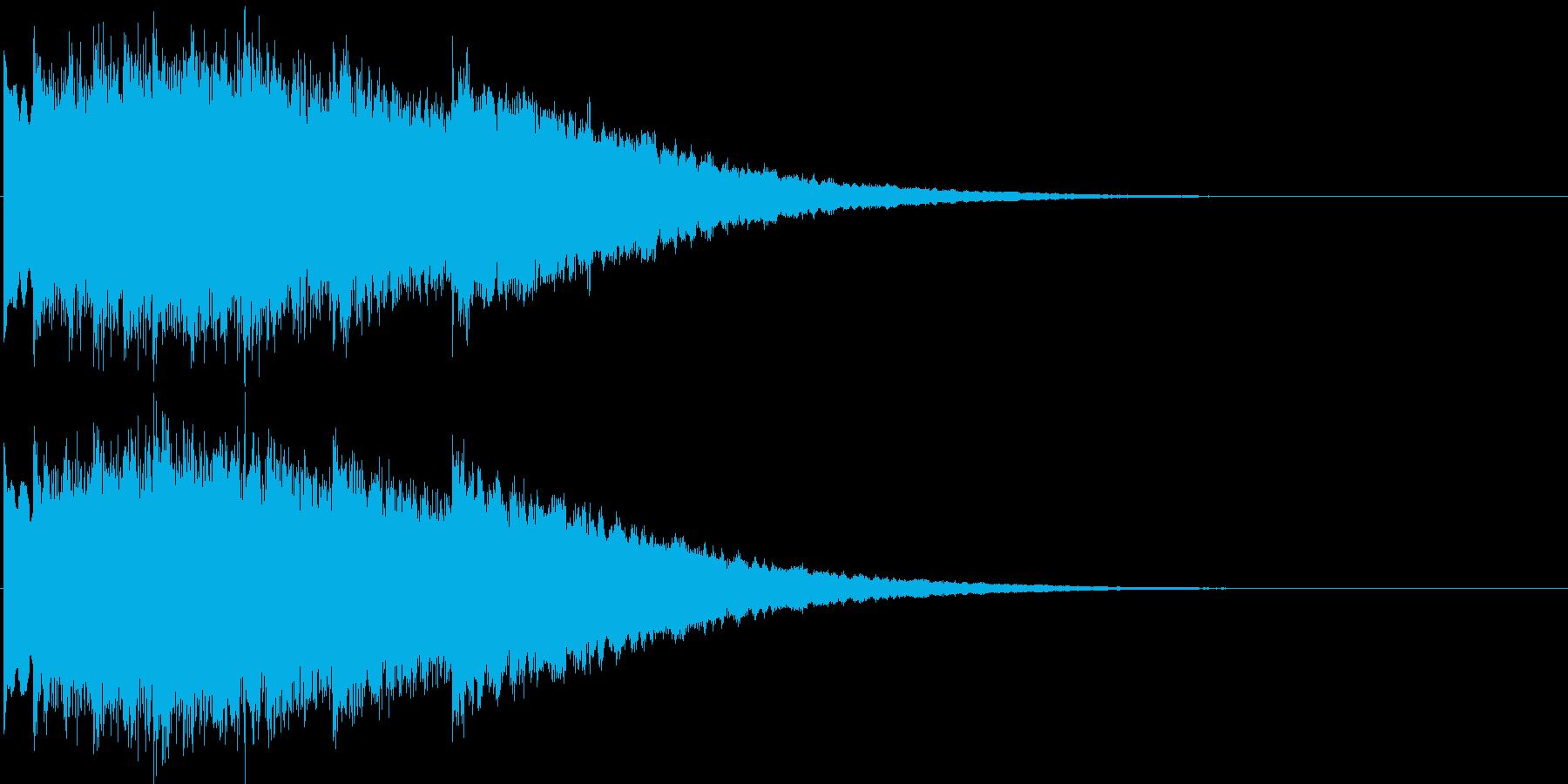 キンコン..。のど自慢風の鐘(合格)の再生済みの波形