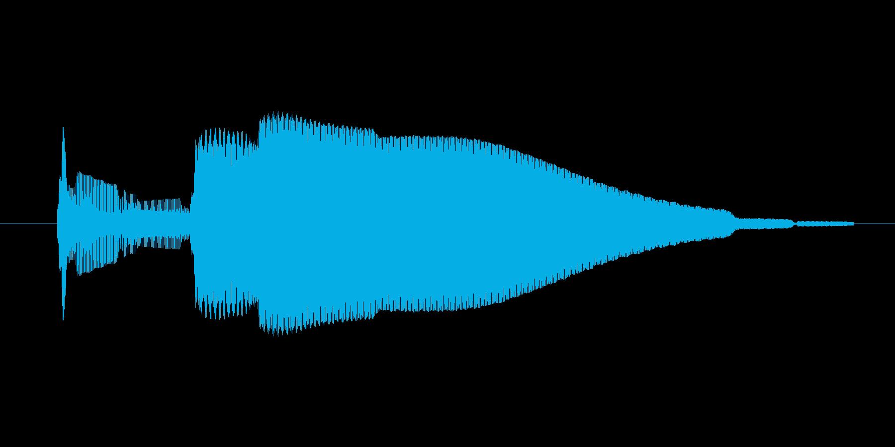 ゲーム、クイズ(ピンポン音)_005の再生済みの波形