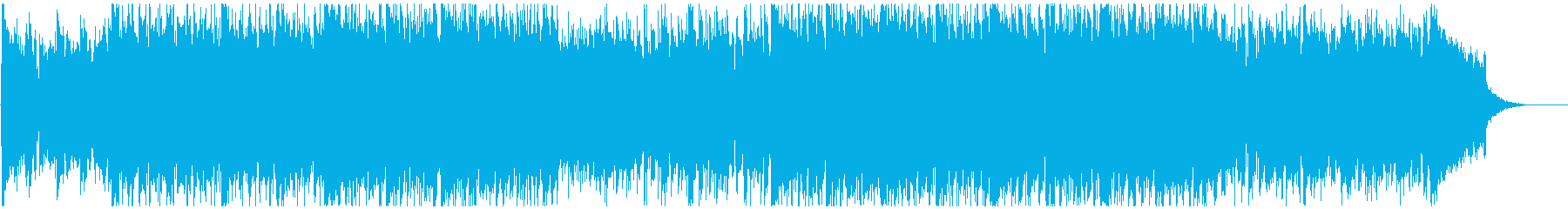 ポジティブで前向きなギターカッティングの再生済みの波形