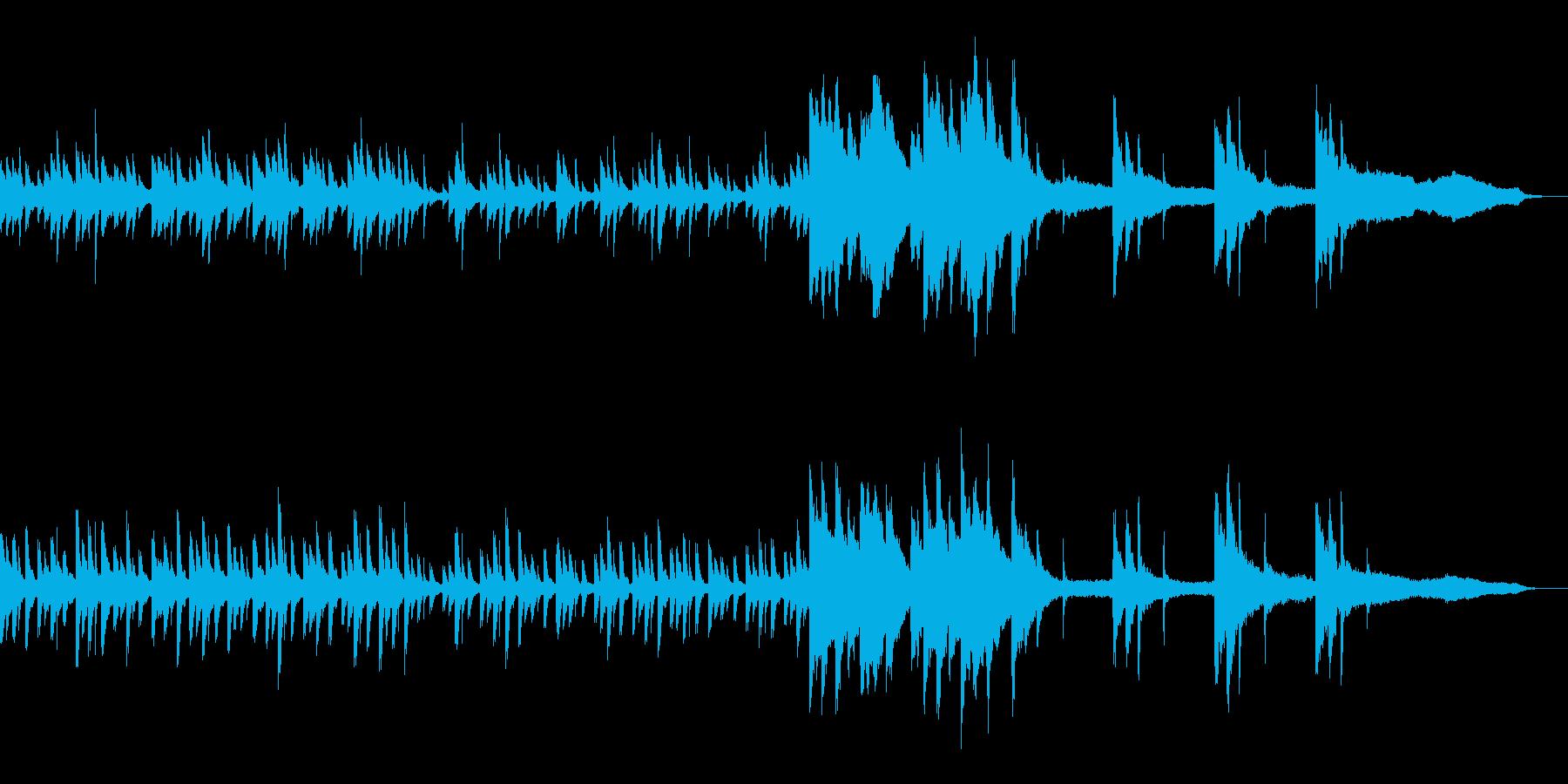 水のピアノ 涼しげ生演奏リラックス効果音の再生済みの波形