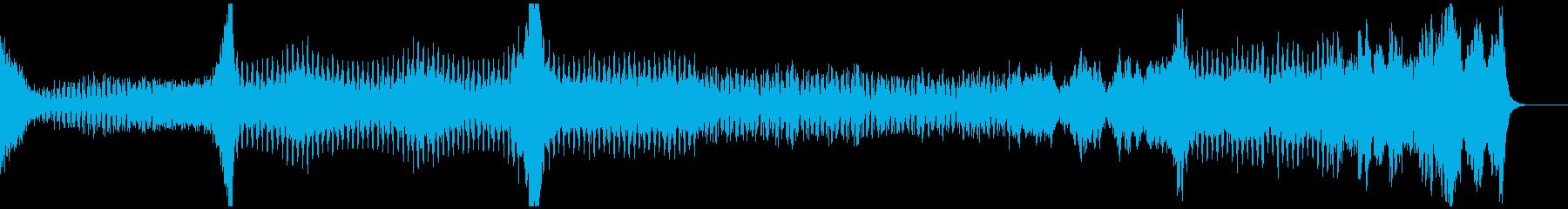 SF系、緊迫、緊張感のあるテクノ+オケの再生済みの波形