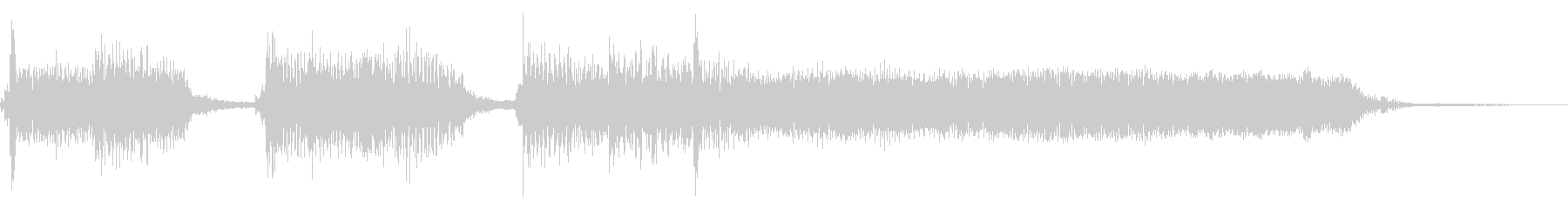 インパクトあるロックなジングル06の未再生の波形