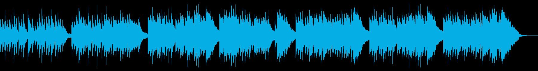 温かい感動的な優しいピアノソロ曲の再生済みの波形