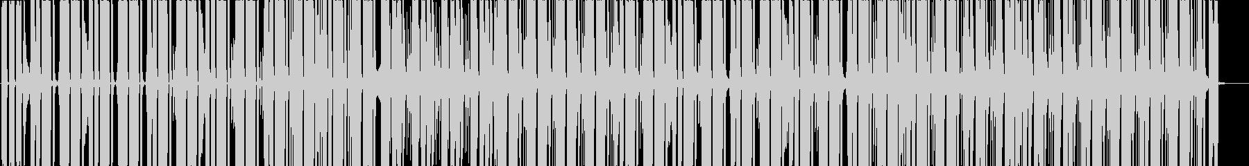 ガジェットCM、テック映像、4つ打ちの未再生の波形