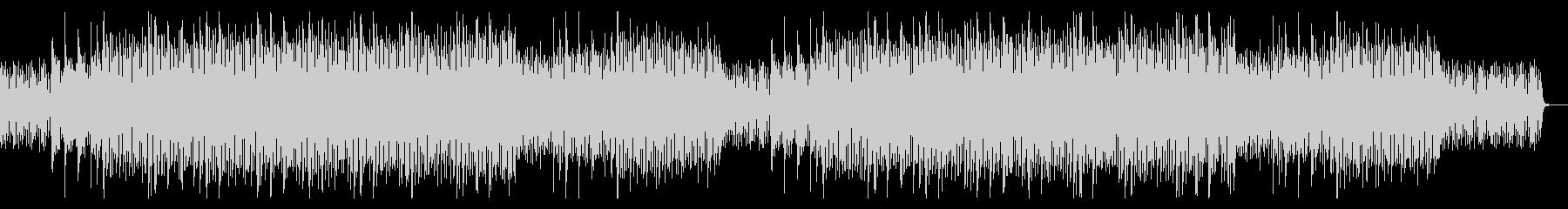独特なリズムの、透明感があるEDMの未再生の波形