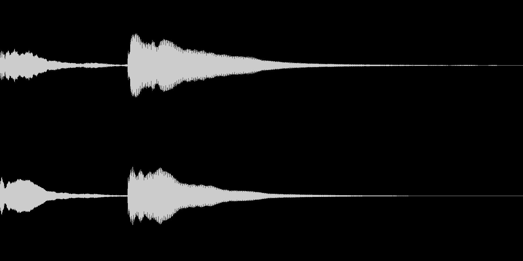 ててん↓の未再生の波形