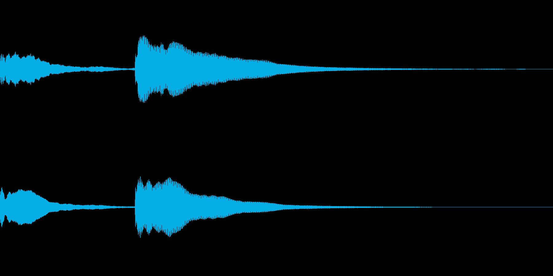 ててん↓の再生済みの波形