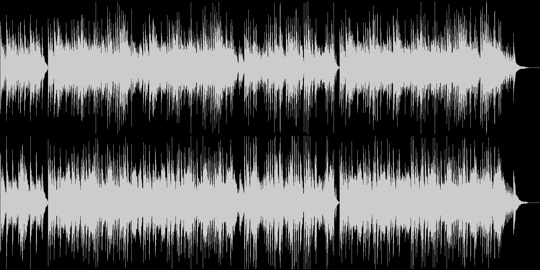 琴とピアノの落ち着いた和風BGMの未再生の波形