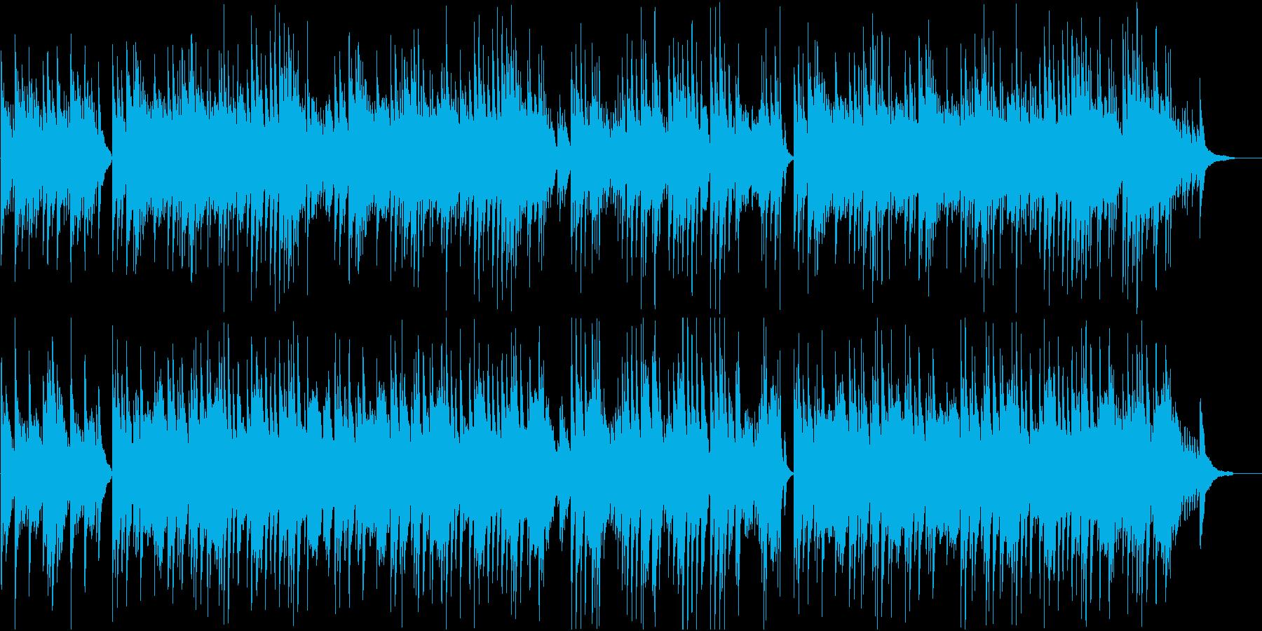 琴とピアノの落ち着いた和風BGMの再生済みの波形