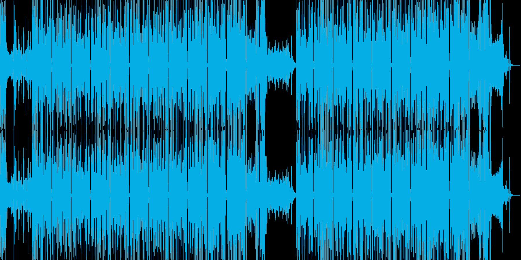 タイム制限クイズ・徐々に盛り上がる構成の再生済みの波形